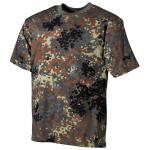 BW T-Shirt, halbarm, flecktarn, 170 g/m²