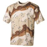 US T-Shirt, halbarm, 6 Farben desert, 170 g/m²