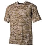 US T-Shirt, halbarm, digital- desert, 170 g/m²