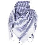 PLO Tuch, mit Fransen, blau-weiß,Gr. ca. 115x110 cm
