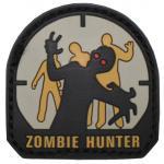 Klettabzeichen, 3D, Zombie Hunter