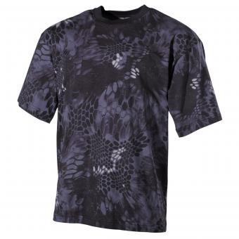 US T-Shirt, halbarm, snake black, 170 g/m²