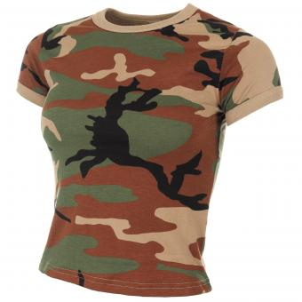 US T-Shirt, Damen, woodland