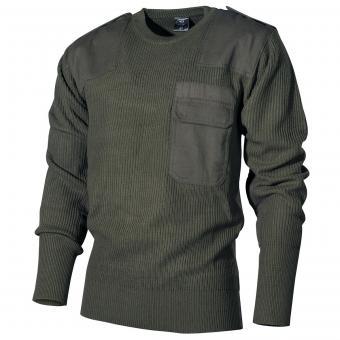 BW Pullover, mit Brusttasche, oliv