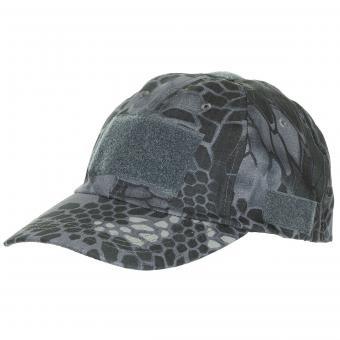 Einsatz-Cap, mit Klett, Einheitsgröße, snake black