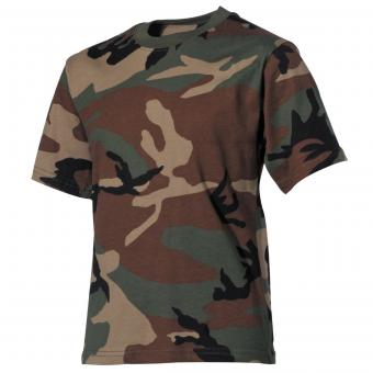 Kinder T-Shirt, woodland, halbarm 122/128