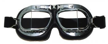 Fliegerbrille, Air Force, Edelstahlrahmen, verchromt