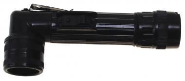 US Winkeltaschenlampe, mittel, schwarz
