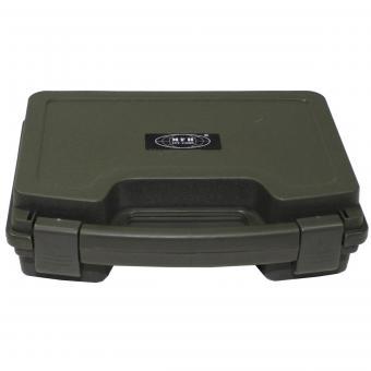 Pistolen-Koffer, Kunststoff, klein, abschließbar, oliv