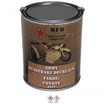 "Farbdose, ""Army"" COYOTE, matt, 1 Liter"