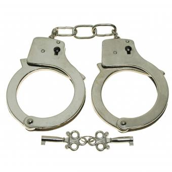 Handschellen, mit 2 Schlüssel, chrom