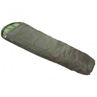 Mumienschlafsack, oliv, 2lg., Füllung 450g/qm Polyester