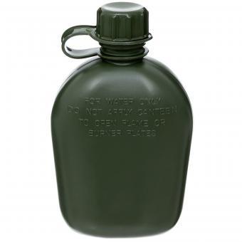 US Plastikfeldflasche, oliv, 1 Liter, BPA-frei