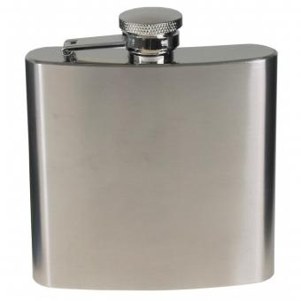 Flachmann, Edelstahl, chrom matt, 6 OZ, 170 ml