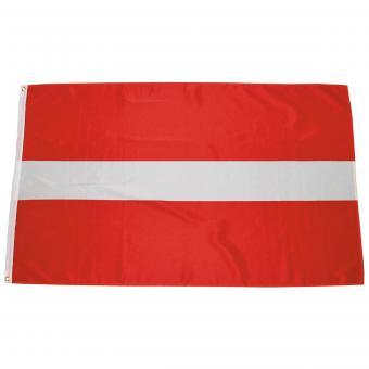 Fahne, Lettland, Polyester, Gr. 90 x 150 cm