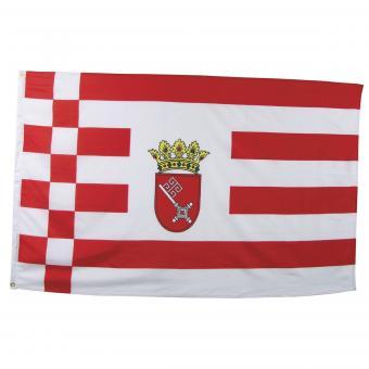 Fahne, Bremen, Polyester, Gr. 90x150 cm