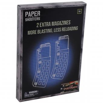 PAPER SHOOTERS, Bausatz, Magazin-Patriot, 2-er Pack