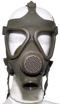 ABC Schutzmaske, oliv, o. Filt. gebraucht/neuwertig, ÖBH, nur für Deko!
