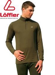 Transtex-Hemd mit Zippkragen, oliv, Marke Löffler