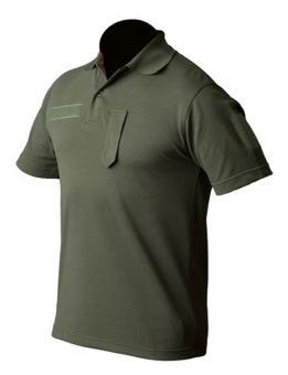 Poloshirt kurzarm (Sport) oliv, mit Klettband und Dienstgradschlaufe