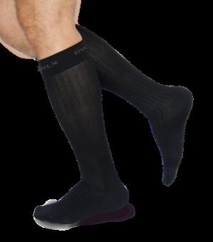 Socken schwarz, Travel, Kompression, Marke DEVENOLUX,