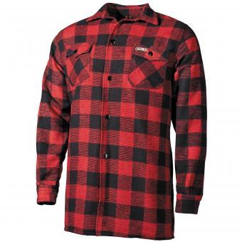 Holzfällerhemd, rot-schwarz, kariert