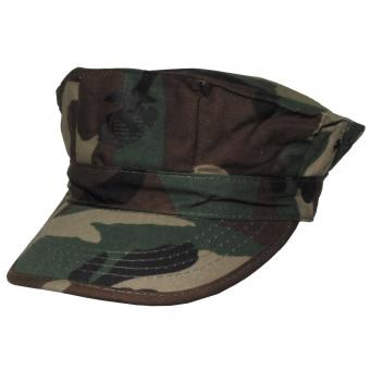 "US Cap, ""USMC"", Rip Stop,  woodland, Marine-Corps-Druck"