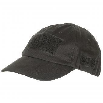 Einsatz-Cap, mit Klett, schwarz