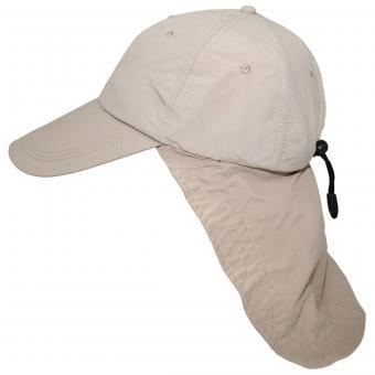 """Cap, """"Sahara"""", beige, langer Nackenschutz"""