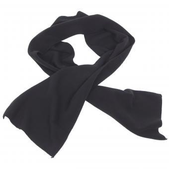 Fleece-Schal, schwarz, ca. 160 x 25 cm