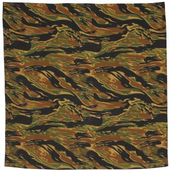 Bandana, tiger stripe, ca. 55 x 55 cm, Baumwolle