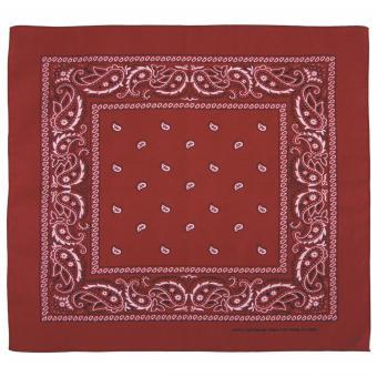 Bandana, burgund-schwarz, ca. 55 x 55 cm, Baumwolle