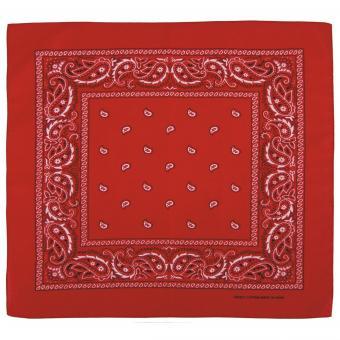Bandana, rot-weiß, ca. 55 x 55 cm, Baumwolle