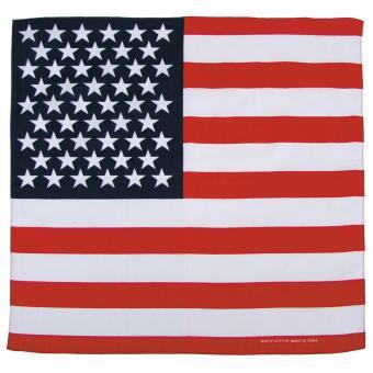 Bandana, USA Fahne, ca. 55 x 55 cm, Baumwolle