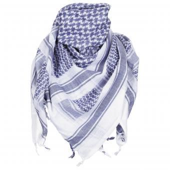 "PLO Tuch, ""Shemagh"", blau-weiß"