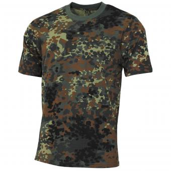 "Kinder T-Shirt, ""Basic"", flecktarn, 140-145 g/m²"