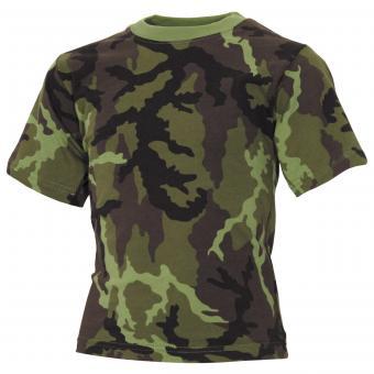 Kinder T-Shirt, M 95 CZ tarn, halbarm, 170 g/m²