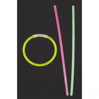 Leuchtstab, Halsband, dünn, div. Farben, 65 Stk./Rolle
