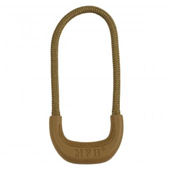 Zipper-Ring, coyote tan, 10 Stk. im Pack