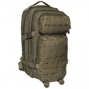 US Rucksack, Assault I, Laser, oliv