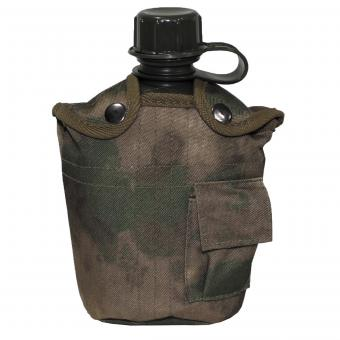US Plastikfeldflasche, 1 l, Hülle, HDT-camo FG, BPA-frei