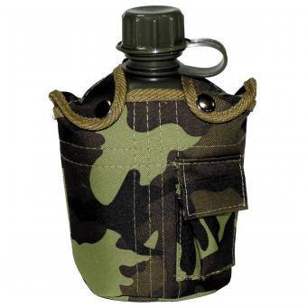 US Plastikfeldflasche, 1 l, Hülle, M 95 CZ tarn, BPA-frei