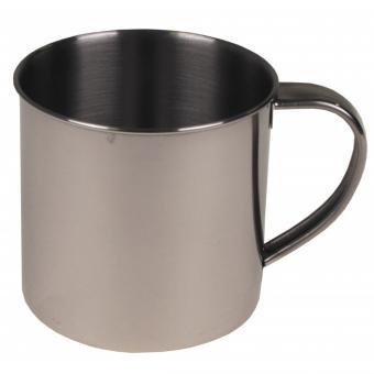 Tasse, Edelstahl, einwandig, ca. 250 ml