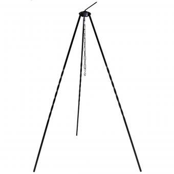 Ungar. Dreibein, ca. 1 m, Eisen, mit Kette und Haken