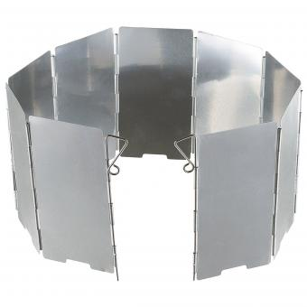 Windschutz, Alu, faltbar, klein, 9 Lamellen, 65 x 13 cm