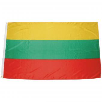 Fahne, Litauen, Polyester, 90 x 150 cm