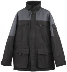 Arbeitsjacke schwarz/grau, wind- & wasserdicht,  Marke Kansas