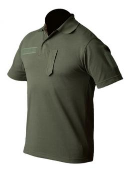 Poloshirt kurzarm (Sport) oliv, mit Klettband und Dienstgradschlaufe, Gr. XL XL