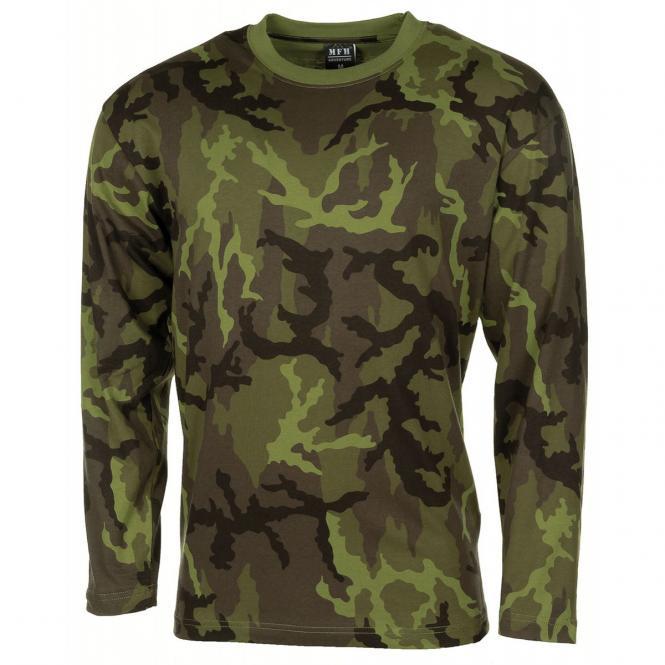 US Tarn-Shirt, langarm, M 95 CZ tarn, 170 g/m²
