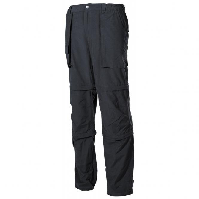 Multifunktion Hose, schwarz, Microfaser, mit Seitentaschen